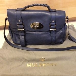 BRAND NEW Mulberry Alexa Satchel in Slate Blue