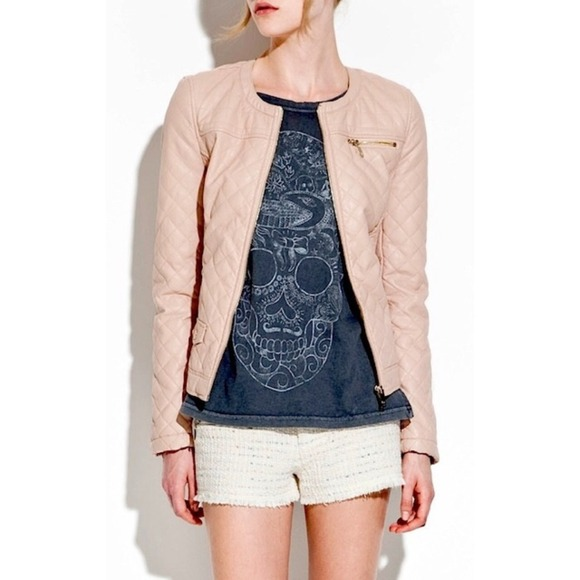 53% off Zara Jackets & Blazers - 🚫SOLD🌟HP🌟Quilted Pink Faux ...
