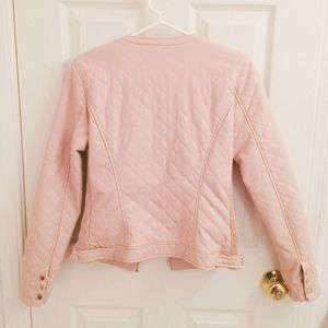 Zara Jackets & Coats - 🚫SOLD🌟HP🌟Quilted Pink Faux Leather Jacket