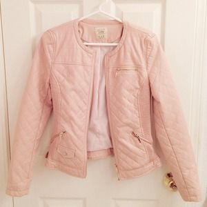 Zara Jackets & Coats - 🚫SOLD🌟HP🌟Quilted Pink Faux Leather Jacket 3
