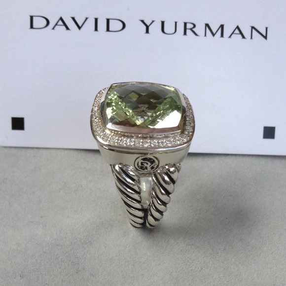 David Yurman Jewelry - Authentic David Yurmam Albion Prasiolite 14mm Ring 4