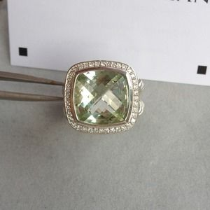 David Yurman Jewelry - Authentic David Yurmam Albion Prasiolite 14mm Ring 2
