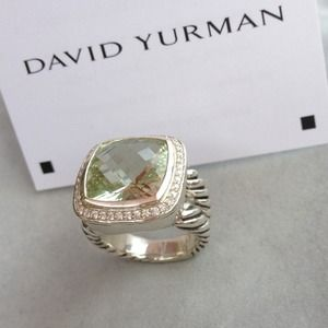 David Yurman Jewelry - Authentic David Yurmam Albion Prasiolite 14mm Ring 3