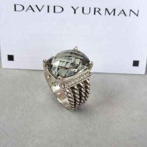 100%Authentic David Yurman WHEATON RING PRASIOLITE