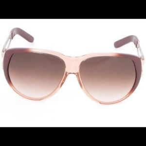 Chloe Oversized Ombré Aviator Sunglasses