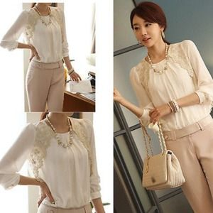Tops - Brand new chiffon blouse!