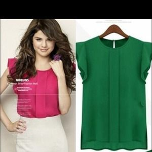 Tops - Candy color! Chiffon blouse