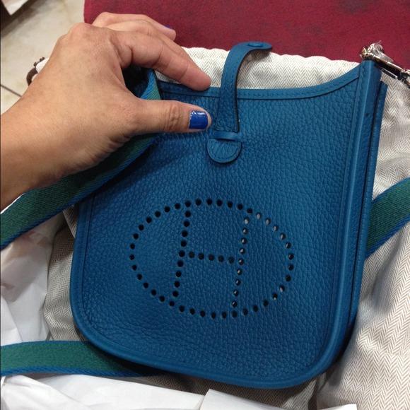best hermes birkin replica handbags - HERMES - Hermes evelyne tpm in blue izmir from Kenley's closet on ...