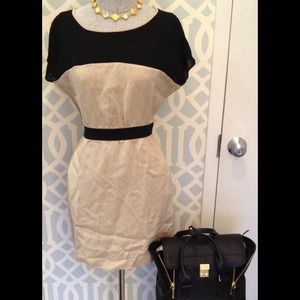 Zara Khaki and Black Dress size M
