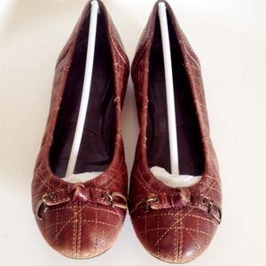 Christian Dior Brown Leather Flats Size 6