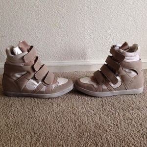 Tan Sneaker Wedges