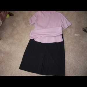 Cute pleated skirt and sweater. M/L