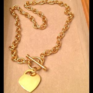 Jewelry - Beautiful 14k gold toggle heart necklace