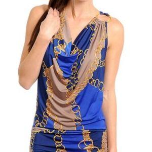 Dresses & Skirts - Blue gold dress