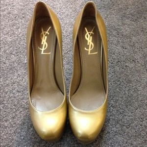 YSL tribtoo Gold color size 37.5