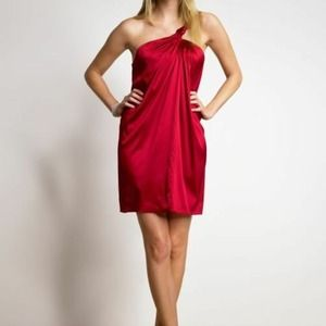 Banana Republic Dresses & Skirts - BR Red Silk Grecian Shift Dress