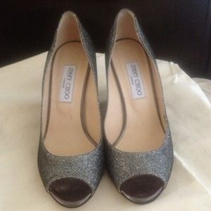 Authentic Jimmy Choo Baxen Wedge Pump