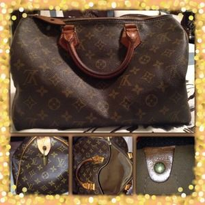 Authentic Louis Vuitton Speedy 30 handbag