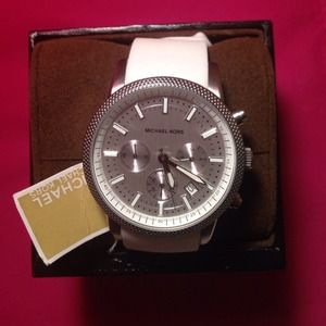 Brand New white and silver Michael Kors watch