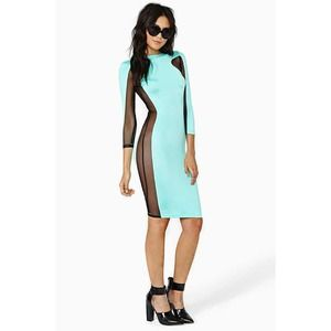 Nasty Gal mint dress
