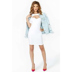 Nasty Gal white cutout dress