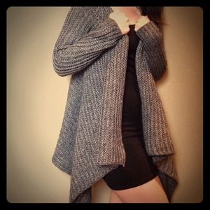 Soft grey open cardigan XS-S NWOT