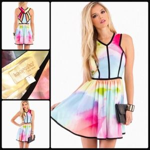 KEEPSAKE 🍭 Flash Back Dress in Multi/Watercolor