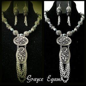 Jewelry - SOLD!Antique Style Sterling Silver & Bali Bead Gem