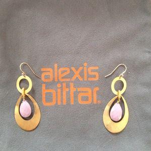 Alexis Bittar Jewelry - ⚡️FINAL SALE⚡️Alexis Bittar gold & pink lucite