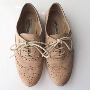 Steve Madden Shoes - Steve Madden Tan Oxford Flats 1