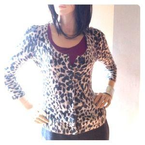 💝 Super soft leopard angora cardigan💝