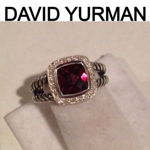 100% Authentic David Yurman petite Albion garnet