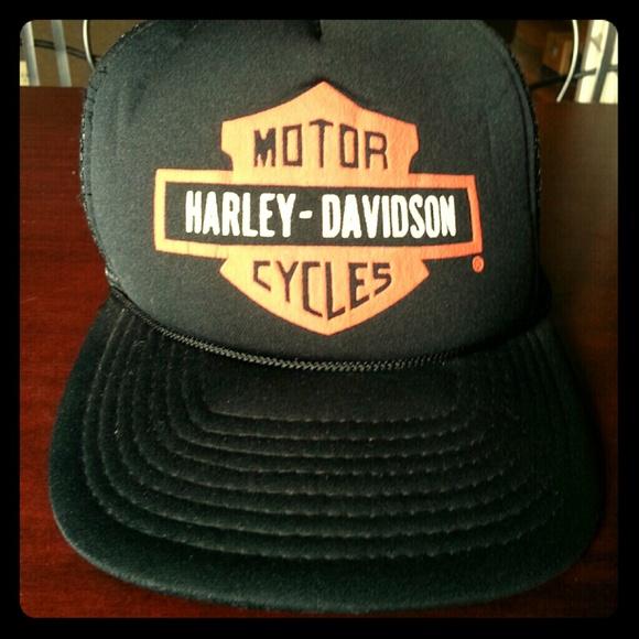 Harley Davidson Outerwear - •○SOLD○•Vintage Harley Davidson trucker cap. 41ee4c514fc
