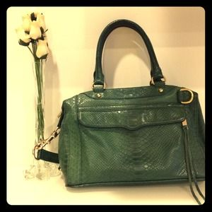 Rebecca Minkoff Alligator Leather Green Tote Bag
