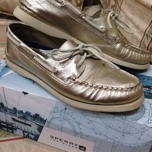 Sperry Top-Sider Shoes - Gold metallic sperrys