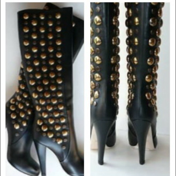 208bbe657 Gucci Shoes | Babouska Tall Studded Boots Just Sharing | Poshmark