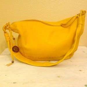 The Sack mustard yellow bag
