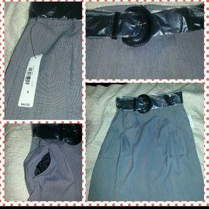 Gray knee skirt