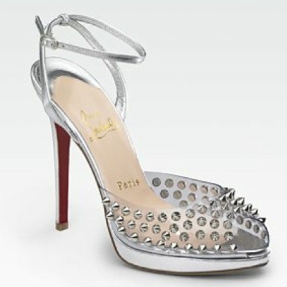 f5d193f91a0 Christian Louboutin Shoes - Louboutin silver spiked heels.