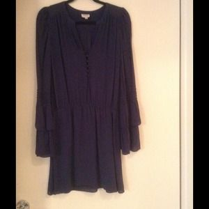 Parker Navy Silk dress.