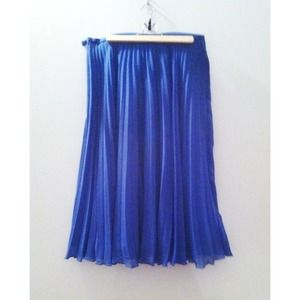 Zara chiffon royal blue midi skirt