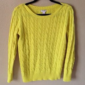 Old Navy Sweaters - Old Navy Yellow Chunky Knit Sweater