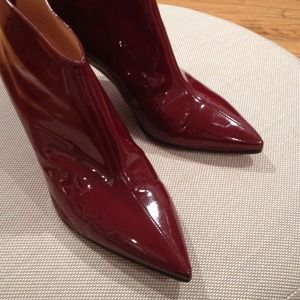 Christian Louboutin burgundy ankle booties