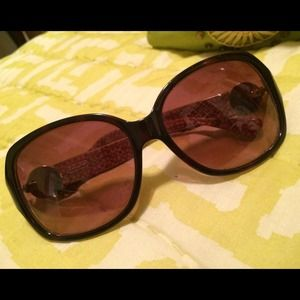 Authentic Brown Tortoise Shell COACH Sunglasses