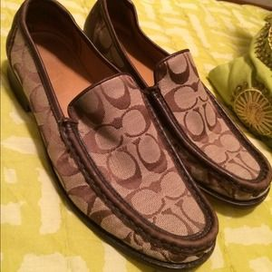 Coach Shoes - Authentic brown COACH Signature loafers, sz. 8