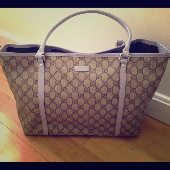 Gucci Handbags - Authentic Gucci Joy Lavender Tote SOLD