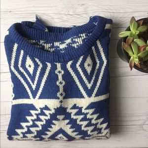 Sweaters - Blue Aztec Sweater (See Description)