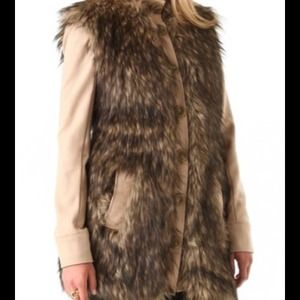 SALE $250Rachel Zoe faux fur jacket ** NEW