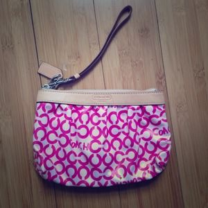 Genuine Coach Pink Wristlet