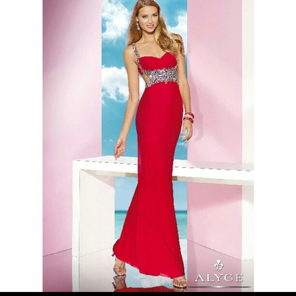 73b91758e28b ALYCE PARIS Dresses | Soldalyce Bdazzle Beaded Jersey Dress Size 4 ...
